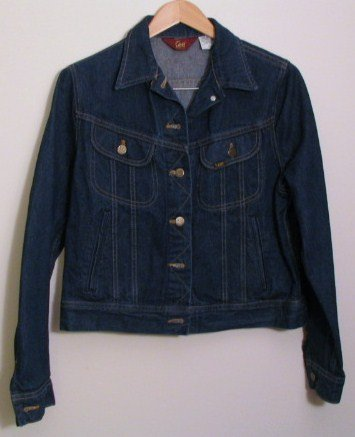 *Vintage Womens Ms Lee Unlined Denim Jean Jacket Size 15 USA