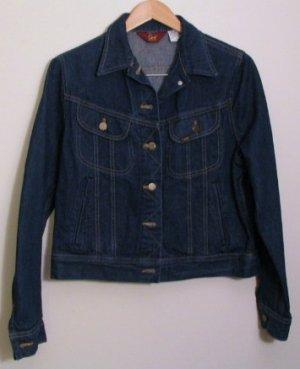 *Vintage Womens Ms Lee Unlined Denim Jean Jacket Size 15 USA