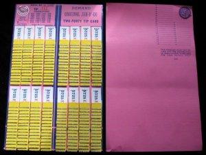 6 (Six) ORIGINAL JAR-O'-DO 240 (TWO-FORTY) TIP CARDS