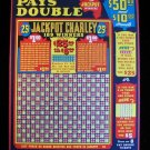 Vintage JACKPOT CHARLEY 25 cent Punchboard NEW USA