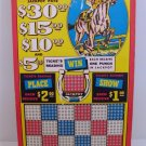 "Vintage 25 cent 600 hole "" THE SILVER HORSE "" Punchboard NEW USA"