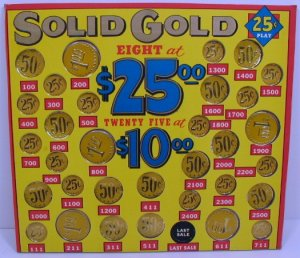 """Vintage """" SOLID GOLD """" Payout Board NEW USA"""