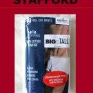 *3 Pair STAFFORD Full-Cut Briefs 52 Big&Tall White Discontinued