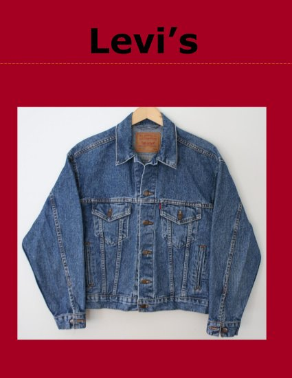 Vintage 80's Classic Mens LEVI Red Tab Unlined Denim Trucker Jean Jacket Small Made in USA 70507