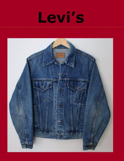 Vintage 80's Classic Mens LEVI Red Tab Unlined Denim Trucker Jean Jacket Small CANADA 70506