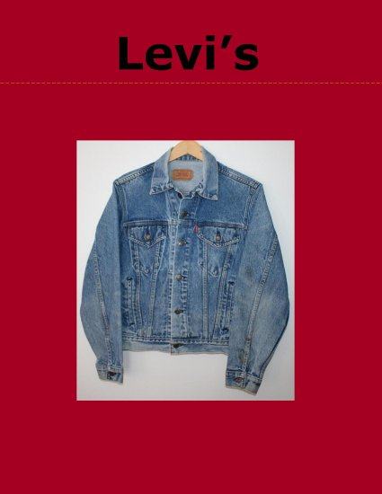 Vintage Classic Womens LEVI Red Tab Unlined Denim Trucker Jean Jacket 38R Made in USA 70506