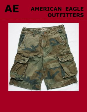 Mens Men's AE AMERICAN EAGLE OUTFITTERS  Military Cargo Short Size 28