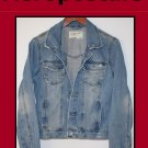 Girl's Aeropostale Distressed Denim Jean Jacket Size Large