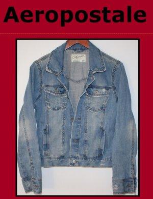 Girl's Aeropostale Distressed Denim Jean Jacket Size Large