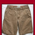 Men's AEROPOSTALE  Flat-Front Solid Canyon Brown Short Size 30