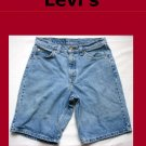 Men's Levi Strauss Orange Tab 550 Relaxed Fit Jean Shorts Size 30