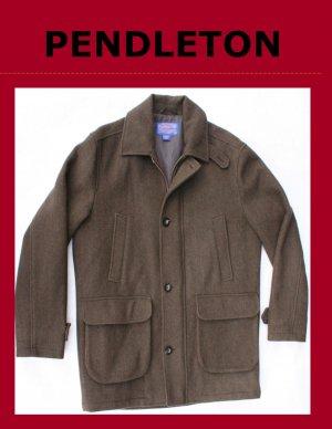 Men's PENDLETON Wool Overcoat Doublure Lining Size Medium