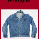 Vintage Men's Large Wrangler Unlined Denim Jean Jacket USA