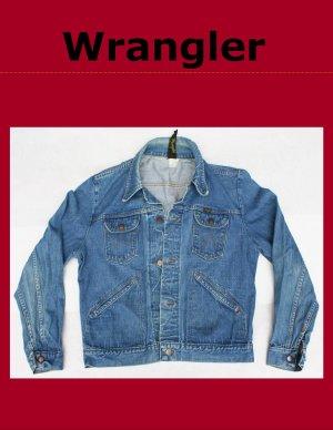 Vintage Men's Large Wrangler Unlined Denim Jean Jacket USA