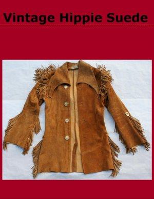 Men's Vintage Handmade Hippie Mountain Man Suede Leather Jacket Coat USA