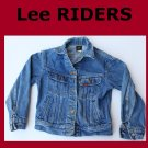 Boy's Size 10 Vintage Lee Unlined Denim Jean Jacket USA