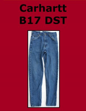 Used Carhartt B17 DST Men�s Relaxed Fit Work Jean 30 x 34