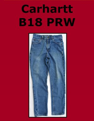 Used Carhartt B18 PRW Men�s Traditional Fit Work Jean 30 x 32 USA