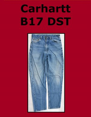 Used Carhartt B17 DST Men�s Relaxed Fit Work Jean 32 x 34
