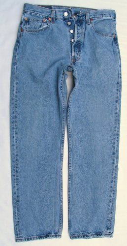 Used Mens Levi 501 Red Tab Button Up Original Jeans 29 x 29