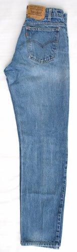 Mens Hige Levi 505 Orange Tab Zip Fly Regular Fit  Jeans 28 x 32