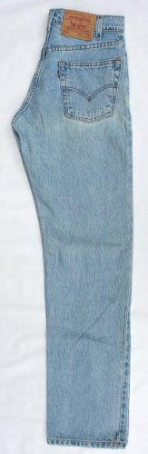 Used Mens Levi 505 Red Tab Zip Fly Regular Fit  Jeans 29 x 32