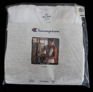 Discontinued Old Stock 1 Pack (3 Pair) Champion White Basic Tank Size L 42-44