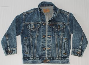 Vintage Youth Levi Trucker Unlined Denim Jean Jacket Size Youths Small USA