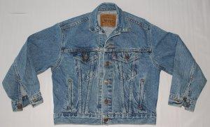 Youth's Levi Trucker Unlined Denim Jean Jacket Size Medium 12/14 USA