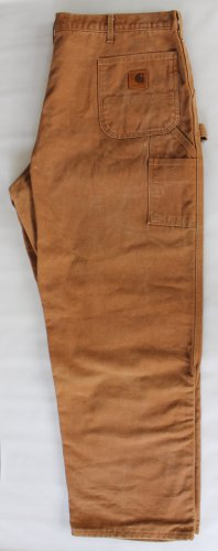 Carhartt Dungarees: Men's Flannel-Lined Duck Dungarees B111 BRN 44 x 31 USA NWOT
