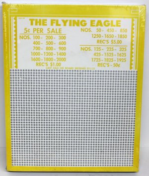 """Vintage """"8 ea"""" 5 cent 2000 hole """" THE FLYING EAGLE """" Punchboards NEW USA"""