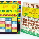 "Vintage 10 cent 1000 hole "" IT'S THE NUTS "" Punchboard NEW OLD STOCK USA"