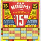 "Vintage 25 cent 1200 hole "" BIG BOOM "" Punchboard NEW OLD STOCK USA"