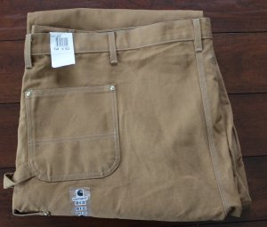 Carhartt® Double Front Work Pants for Men B01 BRN 58 x 32 USA NWT