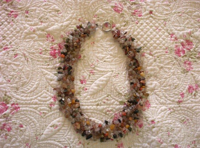Tiger's Eye & Stone Necklace