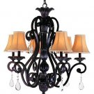 Trans Globe Rustic Bronze Iron and Crystal Chandelier 9925RB