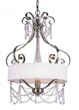 Trans Globe Brushed Nickel and Crystal Contemporary Pendant 7874BN