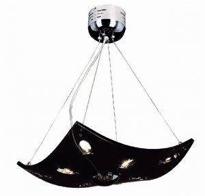 Trans Globe Black Glass Adjustable Pendant MDN-643