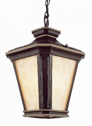 Trans Globe Brown and Gold Outdoor Hanging Lantern 5845BGO