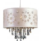Trans Globe White Laser Cut Mini Pendant with Crystal Accents PND-607