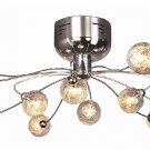 Trans Globe Modern Chrome Semi Flush Ceiling Light MDN-117