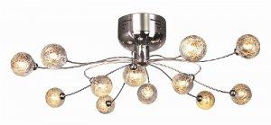 Trans Globe Modern Chrome Semi Flush Ceiling Light MDN-117