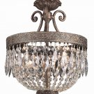 Trans Globe Dark Bronze 2 Lt. Pendant with Crystal Facets 8393DBG