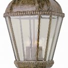 Trans Globe Rust Outdoor Post Top Lantern with Clear Beveled Glass 5153BRT