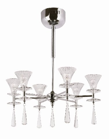 Trans Globe Polished Chrome Halogen Chandelier MDN-931