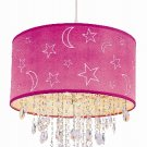 Trans Globe Crystal Pendant with Moon and Stars Shade PND-1001