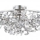 Trans Globe Modern Crystal and Chrome Ceiling Light MDN-955