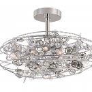 Trans Globe Eight Light Crystal Semi Flush Ceiling Light MDN-1011
