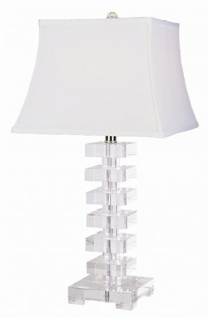 Trans Globe Stacked Block Crystal Table Lamp CTL-121