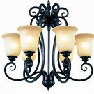 Trans Globe Iron Scroll Burnished Rust Chandelier 70295